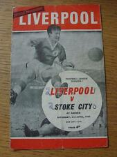 03/04/1965 Liverpool v Stoke City  (Folded, Creased, Scores On Front, Team Chang