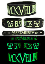 BLACK VEIL BRIDES Rubber Bracelet Wristband Wretched and Divine Glow in the Dark