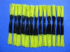 25 Silicone Skirt BL/CharTip bass musky pike spinner bait tackle lure making jig