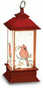 Plastic LED Lantern w/Cardinals Ornament