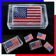 (1 Box = 5 PCS ) USA Flag American Embroidered Iron On Patch United States DIY