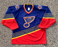 Vintage St Louis Blues Rioux CCM NHL Hockey Jersey Sweater Adult Size L Large