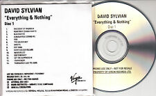 DAVID SYLVIAN Everything & Nothing 2000 UK Virgin 29-trk promo test 2-CD