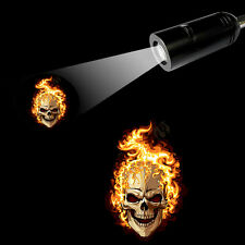 3D Fire Skull Logo  Bar/Hotel/Shop Atmosphere  Projection LED Light E26 E27 Lamp