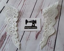 WHITE Lace Sleeve Trims, Flutter Sleeve, Lace Trim, FREE POST from Sydney
