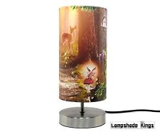 Fairy Bedside Table Lamp Light Lampshade Girls Bedroom Nursery Woodland Deer