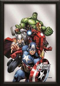 Marvels The Avengers Iron Man Nostalgie Barspiegel Spiegel 22 x 32 cm *Angebot*