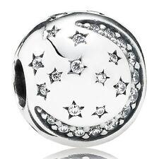 Pandora Charm Clip Element 791386 CZ Silber Bead