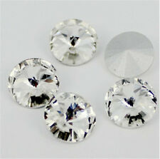 20pcs 18mm Round rhinestone crystal bead point back cut glass Multicolor diy