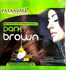 Patanjali K.k.Color Hair Colour Cream and Developer (Dark Brown) Pack of 2 40gm