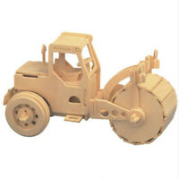 DIY 3D Toys Wooden Solid Simulation Model Assembling Jigsaw Puzzle Road Car