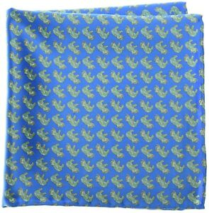 Stefano Ricci Silk Pocket Square Blue Elephant 13PS0126 $200