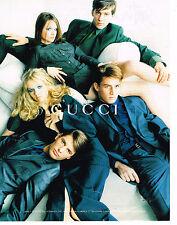 PUBLICITE ADVERTISING 074  1996  GUCCI   haute coutre homme & femme
