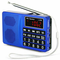 PRUNUS L-258SW Portable SW FM AM MP3 Micro SD USB Radio with Bass Stereo Speaker