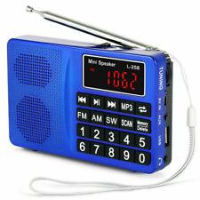 PRUNUS L-258SW Portable SW FM AM MP3 Micro SD USB Radio with Bass Stereo Speaker