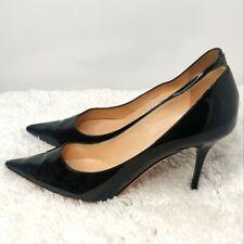 Jimmi Choo Womens Black Patent leather Slip On Pointed toe Pump Heels Size 10
