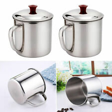 5X Durable Portable Stainless Steel Mug Travel Tumbler Coffee Cup Lid. with D1R1