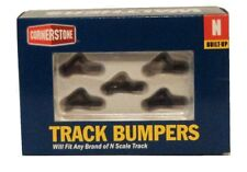 N Scale Walthers Cornerstone 933-2605 Dark Gray Track Bumpers Built Ups (5) pkg