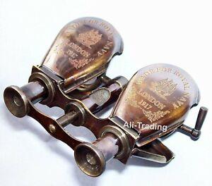 Antique Nautical  London 1917 Binocular Telescope Christmas 5 Inche