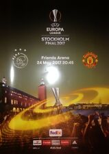 2017 AJAX v MAN MANCHESTER UNITED UTD EUROPA LEAGUE FINAL POSTER 60 x 90 CM