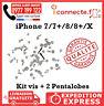 KIT VIS COMPLET + PENTALOBE IPHONE 7 7PLUS 8 PLUS X TORX ORIGINAL
