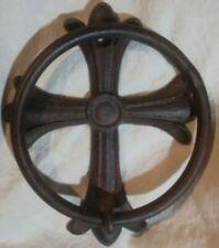 Vintage Cast Iron / Metal Cross Towel Hanger Holder Hook Rustic Celtic