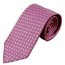 D.berite Pink Checked 3.15'' 100% Silk Classic Jacquard Woven Tie Necktie JS05
