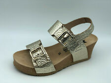 Sandals Mephisto Lissandra Leather Gold Wedge 6 CM List Price - 20%
