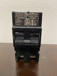 ZINSCO TYPE QFP 200 AMP MAIN CIRCUIT BREAKER 120/240 VOLT 2 POLE SYLVANIA