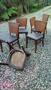 Thonet /Thonet Style Dining Chairs ….Poland….Need Recovering 6 Chairs Incl