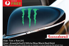 New MONSTER Scratch KEN BLOCK Reflective GREEN Vinyl Sticker Decal for Car Gift=