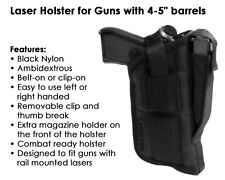 Tactical Laser Holster - Fits Full Size pistols w/ laser sight or light attached
