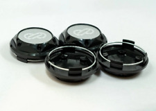 4pcs 68mm Silver Black Enkei Wheel Center Caps Hub Caps Rim Caps Emblems Badges