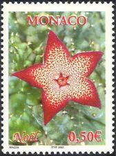 Monaco 2002 Flower/Cactus/Christmas/Greetings/Nature/Cacti  1v (n38612)