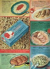 F- Publicité Advertising 1958 Les Pates spaghetti Rivoire & carret