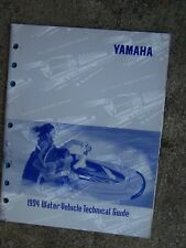 1994 Yamaha Water Vehicle Technical Guide Manual Care Maintenance SEE R STORE  L