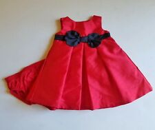 Girls JOY by CARTER'S red black Christmas party dress 0 3 months diaper cover