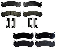 Front & Rear Semi-Metallic Brake Pad Sets Kit ACDelco For Chevy GMC Hummer H2