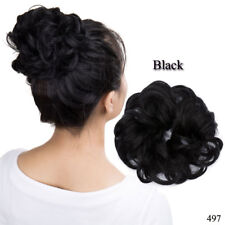 Curly Messy Bun Hair Piece Scrunchie Chignon Hair Extensions Real as human USA