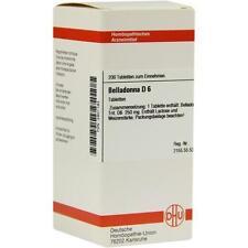 BELLADONNA D 6 Tabletten 200St PZN: 2801193