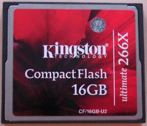Carte Kingston CompactFlash 16GB ultimate 266X