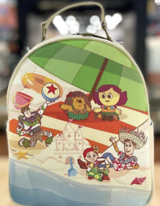 New With Tags Loungefly Disney Pixar Toy story Beach Scene Mini Backpack