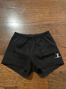 Girl's Black Gymnastics/Dance Shorts Size 6/7