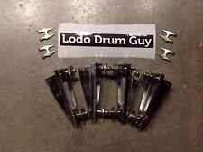 Set of four (4) YAMAHA vintage bass drum lug casing casings stage JAPAN #L2