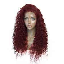 Lady Long Synthetic Ombre Blonde Afro Curly Wig African Hairstyle Wigs 6A