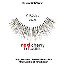 5 X RED CHERRY 100% HUMAN HAIR BLACK FALSE EYE LASHES #747L