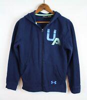 Under Armour Boy's Blue Hoodie Zip Front Sweatshirt Jacket Child YLG L