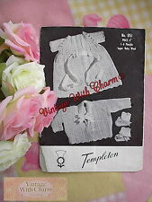 Vintage Knitting Pattern Beautiful Baby's Dress, Coat & Bootees   FREE UK P+P !!