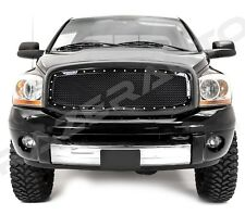 06-08 Dodge Ram1500+06-09 Ram 2500/3500 Black Packaged Mesh Grille+Rivet+Shell