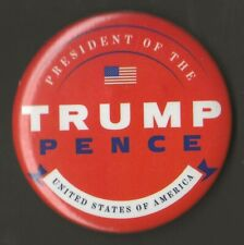 """2016 Donald Trump & Mike Pence 2.5"""" / Official Inauguration Button"""